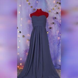 Dresses & Skirts - Grey bridesmaid chiffon floor length dress